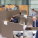Michel Barnier  right) and minister-president Jan Jambon in the Flemish Parliament